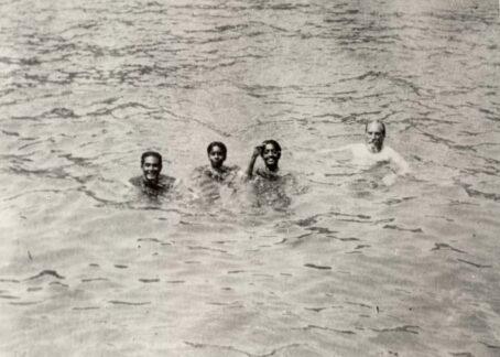 Krishnamurti swimming in a River - CLICK TO EXPAND