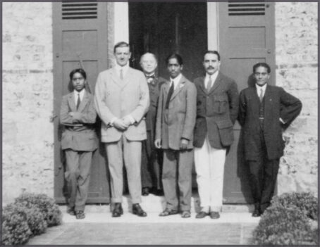 Photo: Nityananda, Arundale, Krishnamurti, <br />Woodehouse, Jinarajadasa. Normandy, France, 1913