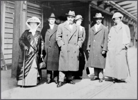 Mrs. Arundale, Dr. Roche, G. Arundale, Cordes, Krishnamurti, Lady Emily. Dover, 1914