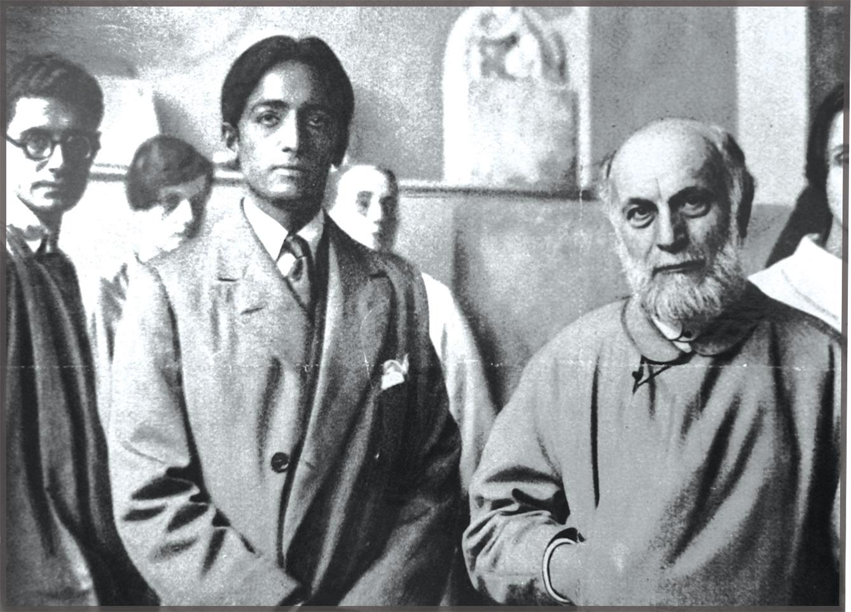 With sculptor Antonie Bourdelle