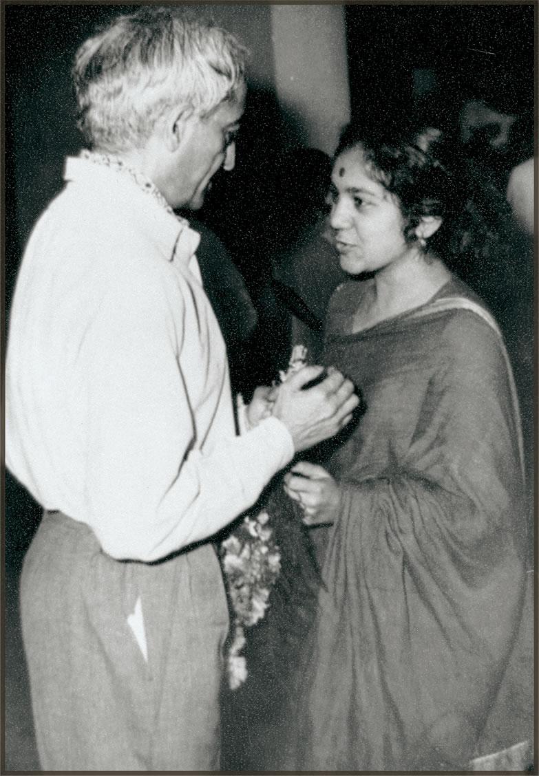 Krishnamurti with Sheila Ganatra, c1962