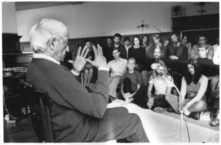 Krishnamurti with Brockwood Park School's Students - CLICK TO EXPAND